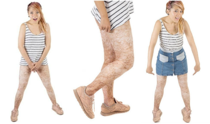 Hairy leg leggings are all the rage
