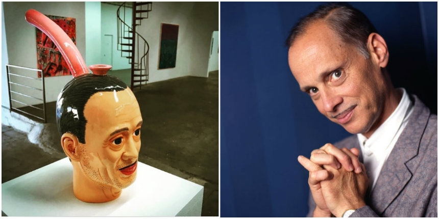 Giant John Waters head bong