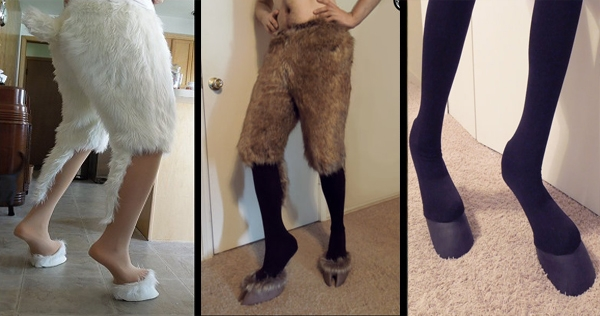 Time to start thinking about breaking out the hooved leggings for the Pagan holidays