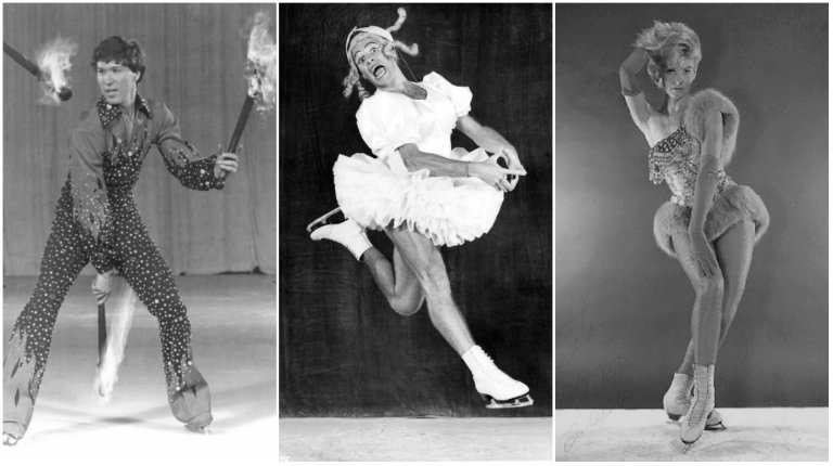 Follies on Ice: Showgirls, men in drag, an ice-skating chimpanzee, a robot, and Elvis