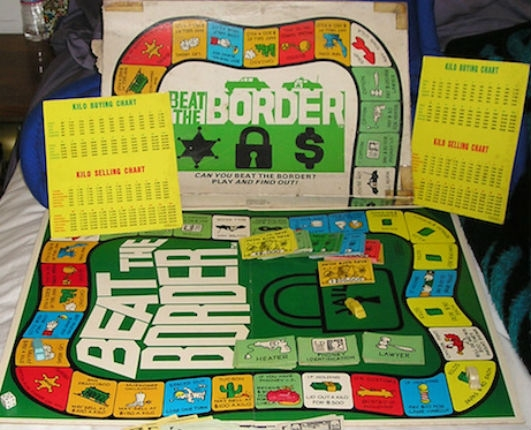Pretend to be a drug dealer from Mexico with 'Beat the Border,' an actual 70s board game!