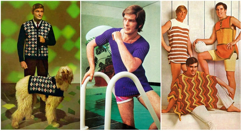 Amusing vintage patterns for men