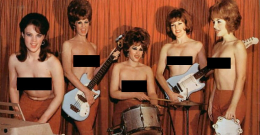 The Ladybirds: The world's first all-girl topless rock band(s)