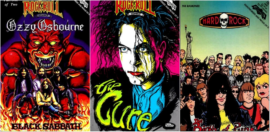 The rancid, rotten and eye-poppingly RIDICULOUS covers of Rock N' Roll Comics!