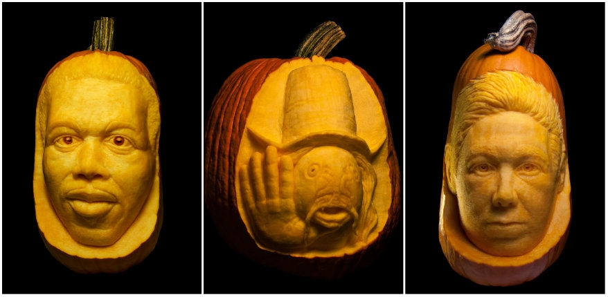 Memorial Jack-o-lanterns: Pumpkins of Captain Beefheart, Ornette Coleman, MCA and many more