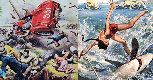 Walter Molino's lush illustrations of people in peril