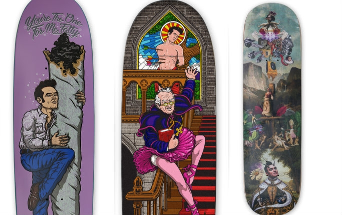 'You're the One for Me, Fatty': Amusing Morrissey-themed skateboard decks