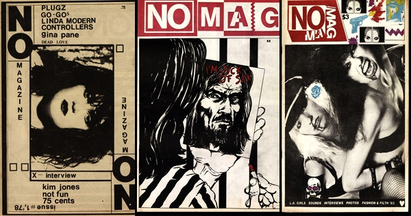 The entire print run of transgressive LA punk art and music zine NO MAG is now online