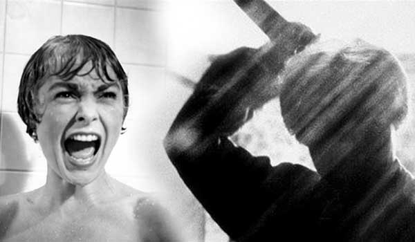 The theme music from Hitchcock's 'Psycho'... PLAYED WITH KNIVES
