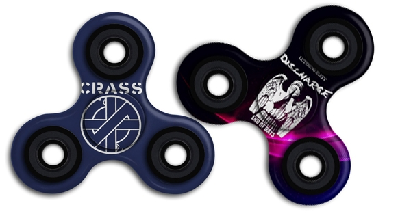 'Yes that's right, punk is DEAD': Crass and other punk AF fidget spinners