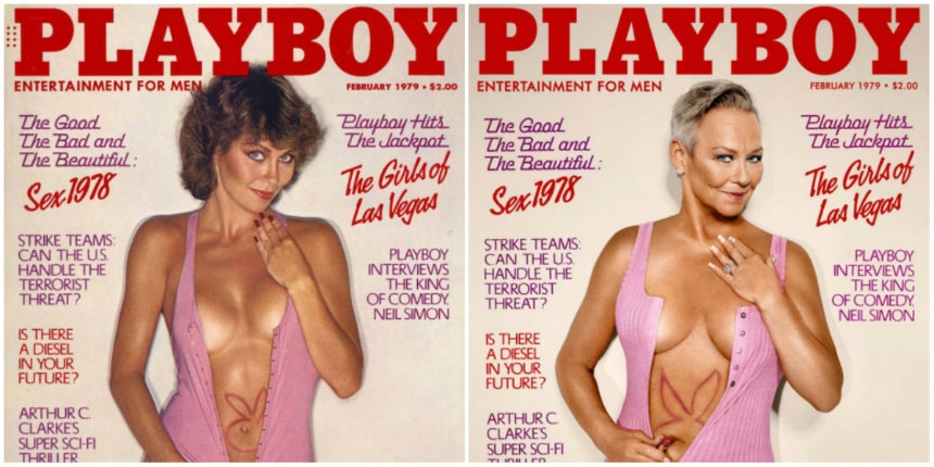 Playboy Playmates recreate their iconic covers  30 years on
