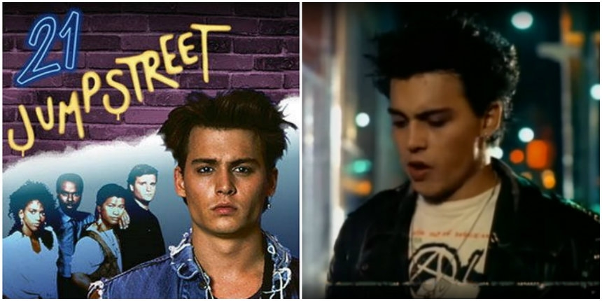 Johnny Depp 'speaker dives' to Agent Orange in the punksploitation episode of '21 Jump Street'