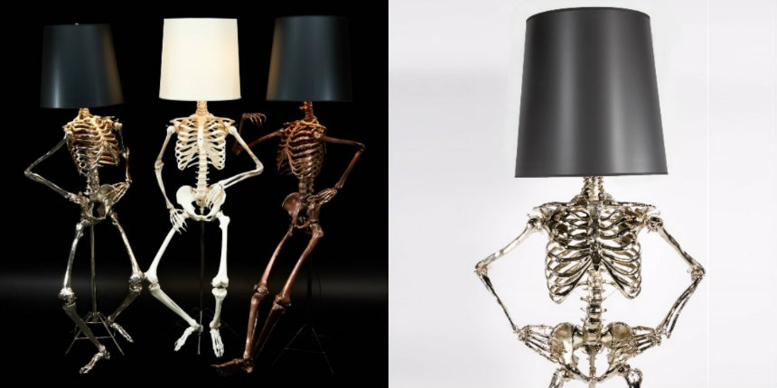 Finally there are posable life-sized skeleton body lamps!