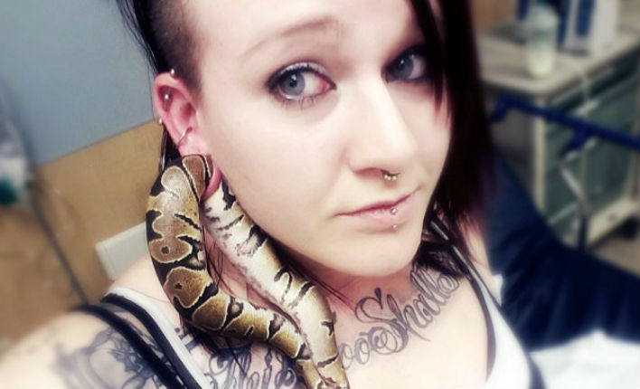 Woman gets pet snake stuck in her stretched earlobe