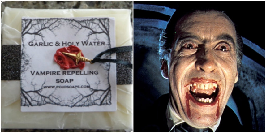 Finally! 'Vampire Repelling Garlic and Holy Water' soap!