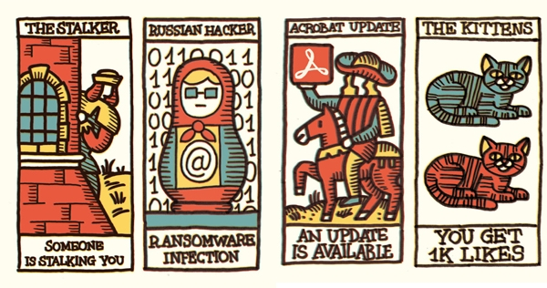 Social network tarot cards predict the predictable