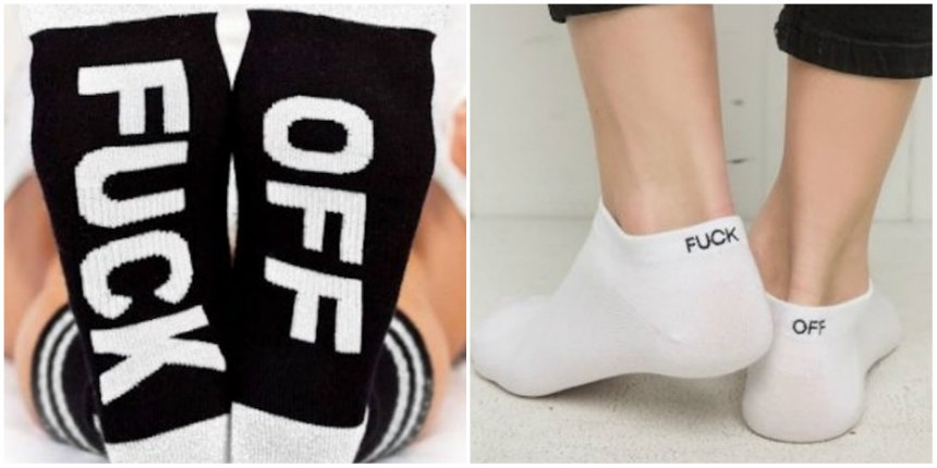 Subtle, (and not so subtle) socks that tell everyone around you to 'fuck off'