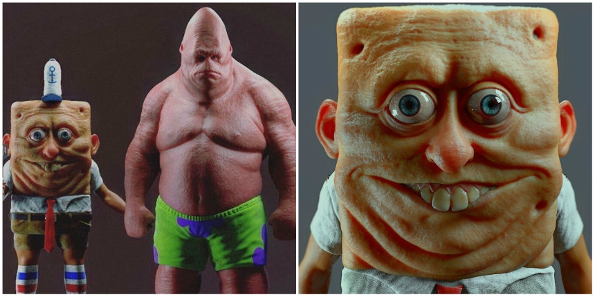 Someone made an IRL SpongeBob and Patrick