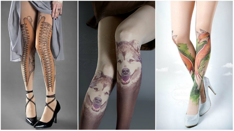 Tattoo tights: Have beautiful decorated legs without getting tattoos