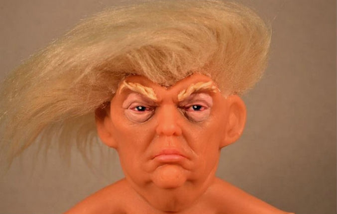 There's a tiny nude Trump troll doll