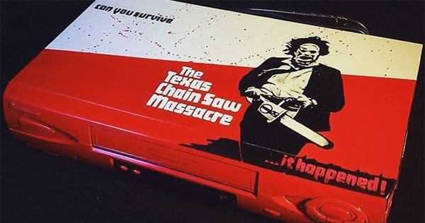 Latest in retro-tech chic: Custom-painted horror-themed VCRs