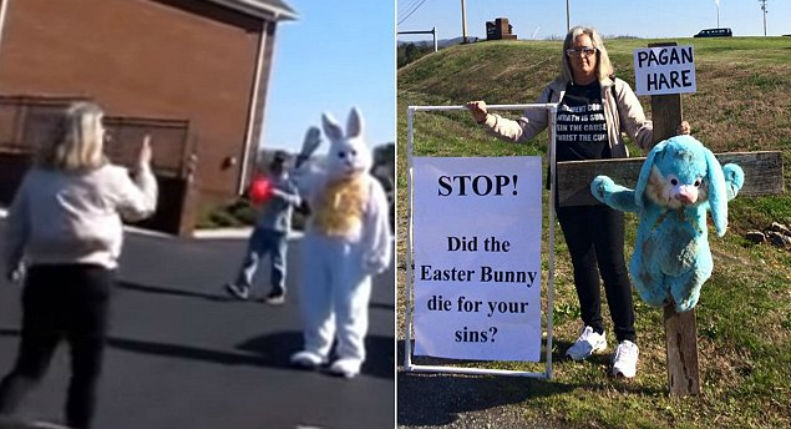Woman bitches-out Easter Bunny in church parking lot—then things get REALLY weird