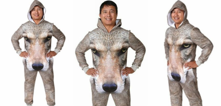OMG, the 'sexy' full-body crotch-showcasing wolf onesie has arrived!
