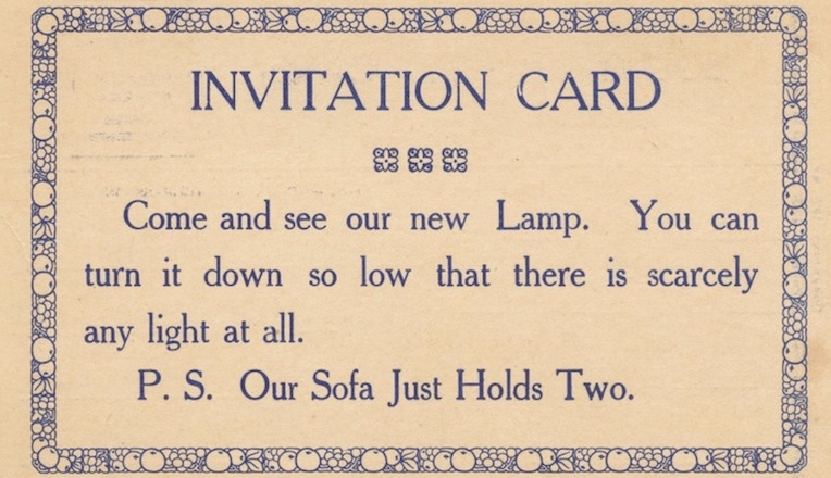 Cheeky 19th-century 'pickup line' calling cards