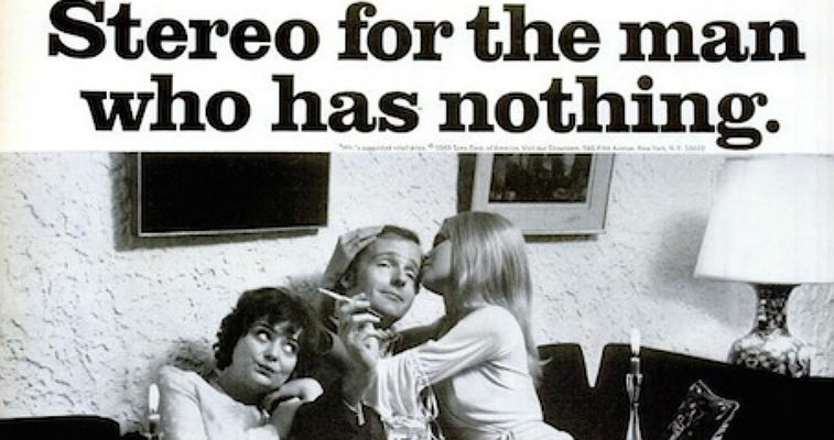 Sexist stereo ads from the 70s are a total turn-off