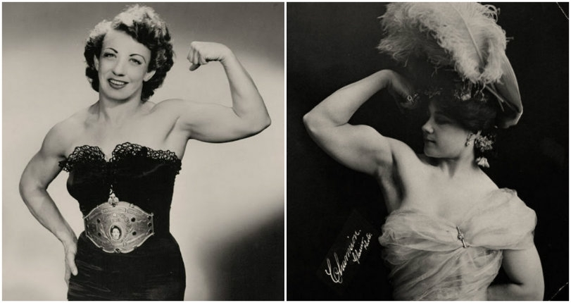 Get in the ring: Vintage images of female bodybuilders and 'strong women' showing off