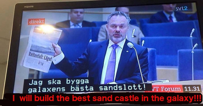 Swedish TV accidentally puts children's subtitles over political debate, and it's f*cking hilarious!