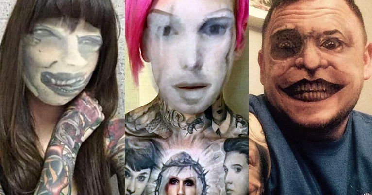 People face-swapping with their own tattoos = high-test nightmare fuel