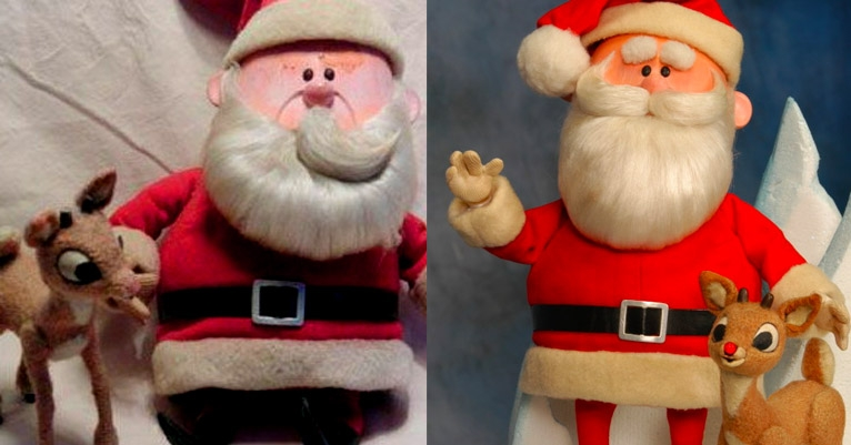 Restored Rudolph and Santa figures from 'Rudolph the Red-Nosed Reindeer': Only ten million bucks