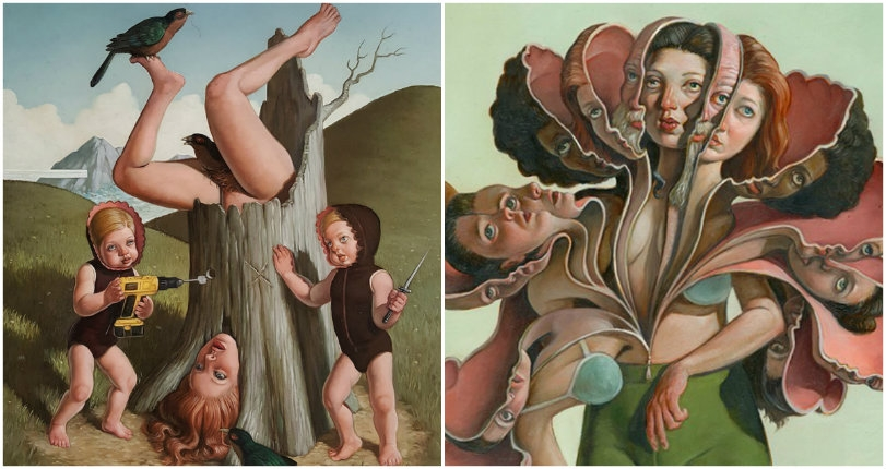 The magical and disturbing dream-like nude oil paintings of Erik Thor Sandberg