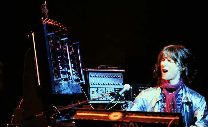 Laserbeams, disco balls, smoke machines and ANALOG SYNTHESIZERS: Tim Blake's Crystal Machine