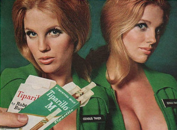 Sexist vintage Tiparillo ads featuring half-naked 'career women' who would do ANYTHING for a smoke