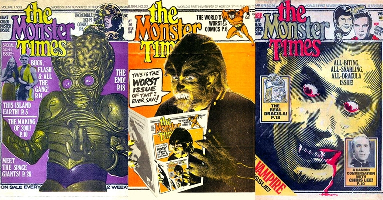 Classic covers from 'The Monster Times'