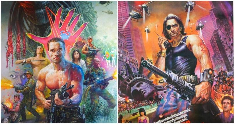 Amazing hand-painted movie posters by legendary Thai artist Tongdee Panumas