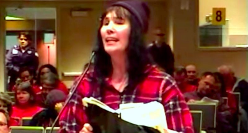 Tampon-waving former Republican Senate candidate makes a fool of herself at LGBT rights hearing