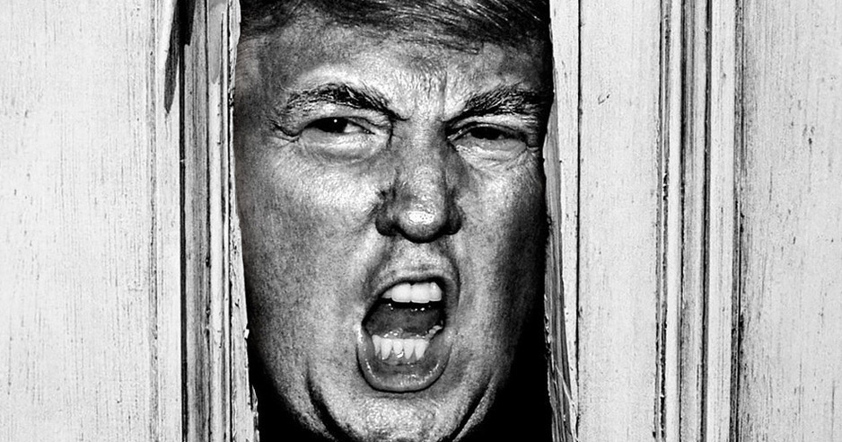 Donald Trump Photoshopped into horror movie stills wins the Internet today
