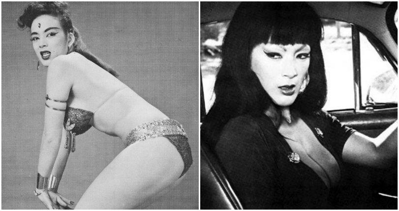 Ass-kicking 'Faster Pussycat' heroine Tura Satana during her younger days as a burlesque dancer