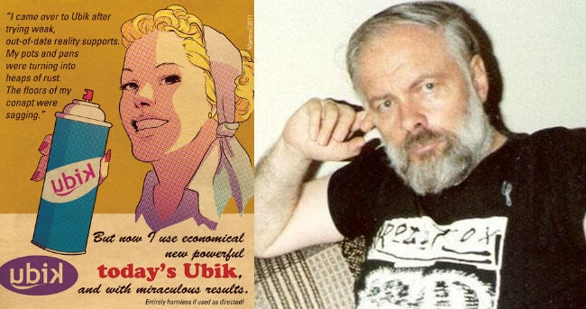 What advertisements for Philip K. Dick's Ubik spray might look like