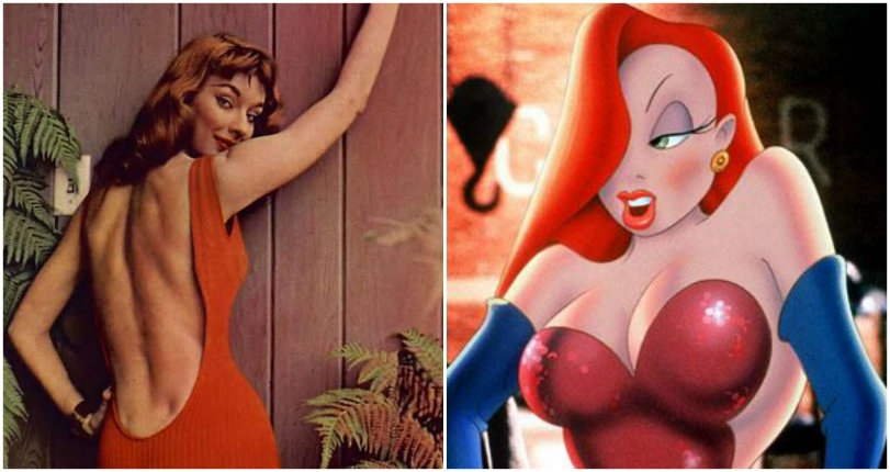 The seductive 1950s sex-bomb whose daring backless dresses inspired 'Jessica Rabbit'