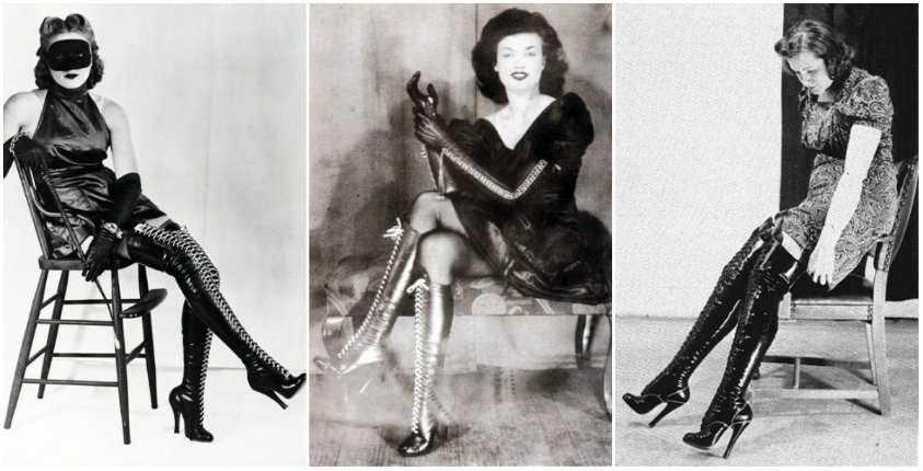 Lick my boots: Vintage photos of women wearing kinky boots