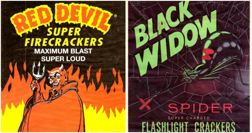 Red Devils, Black Bats & Angry Cats: The wacky art of vintage fireworks packaging