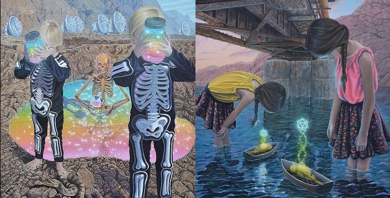 What the fuck is going on in Wiley Wallace's crazy sci-fi paintings?