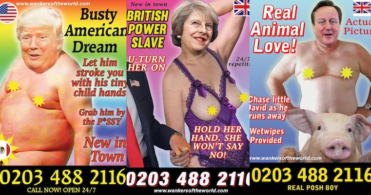 Horrible political figures star in tacky prostitution advertisements