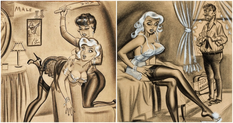 Stilettos and spankings: The impossibly buxom blondes of erotic illustrator Bill Ward