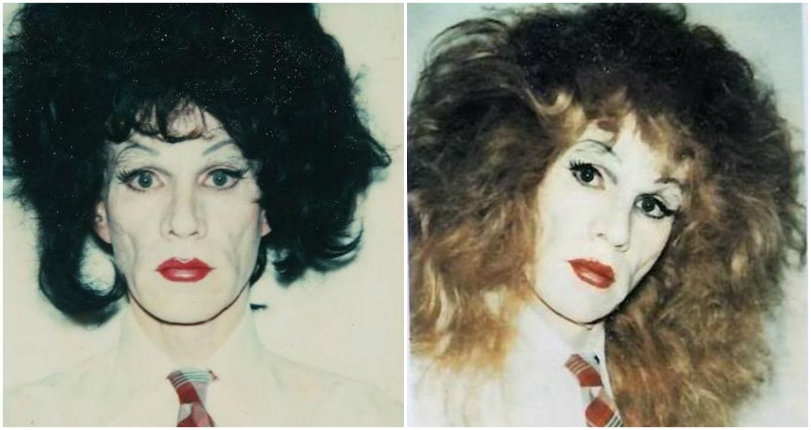 Oh, you pretty thing! Polaroid portraits of Andy Warhol in drag