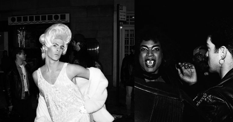 Portraits of Halloween partygoers in the West Village flying their freak flags high, 1993